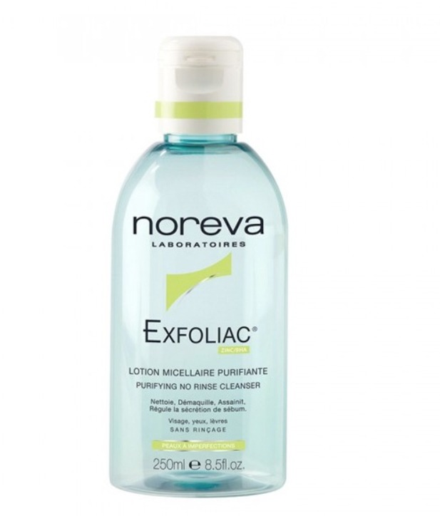 solution micellaire Exfoliac des laboratoires Noreva