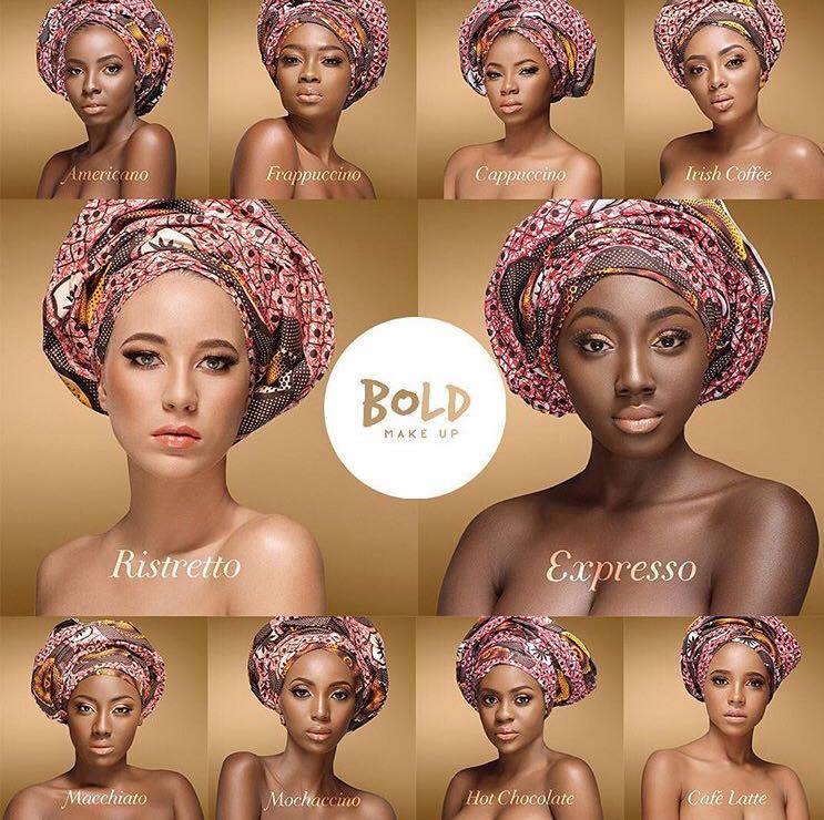 Ligne de fond de teint de Bold Makeup