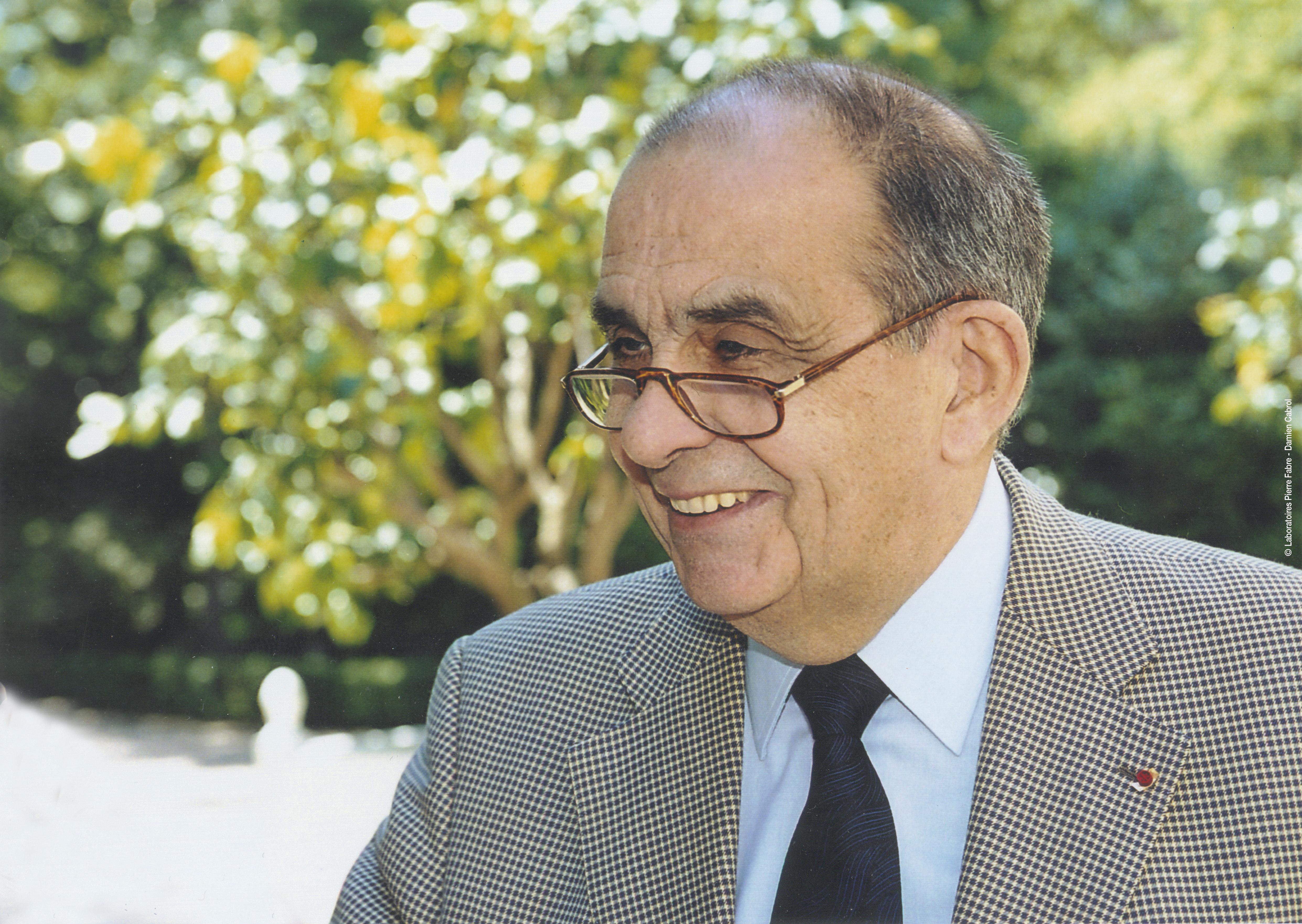 Pierre-Fabre, fondateur des laboratoires Pierre-Fabre. Cc : Pierre-Fabre dermo-cosmétique