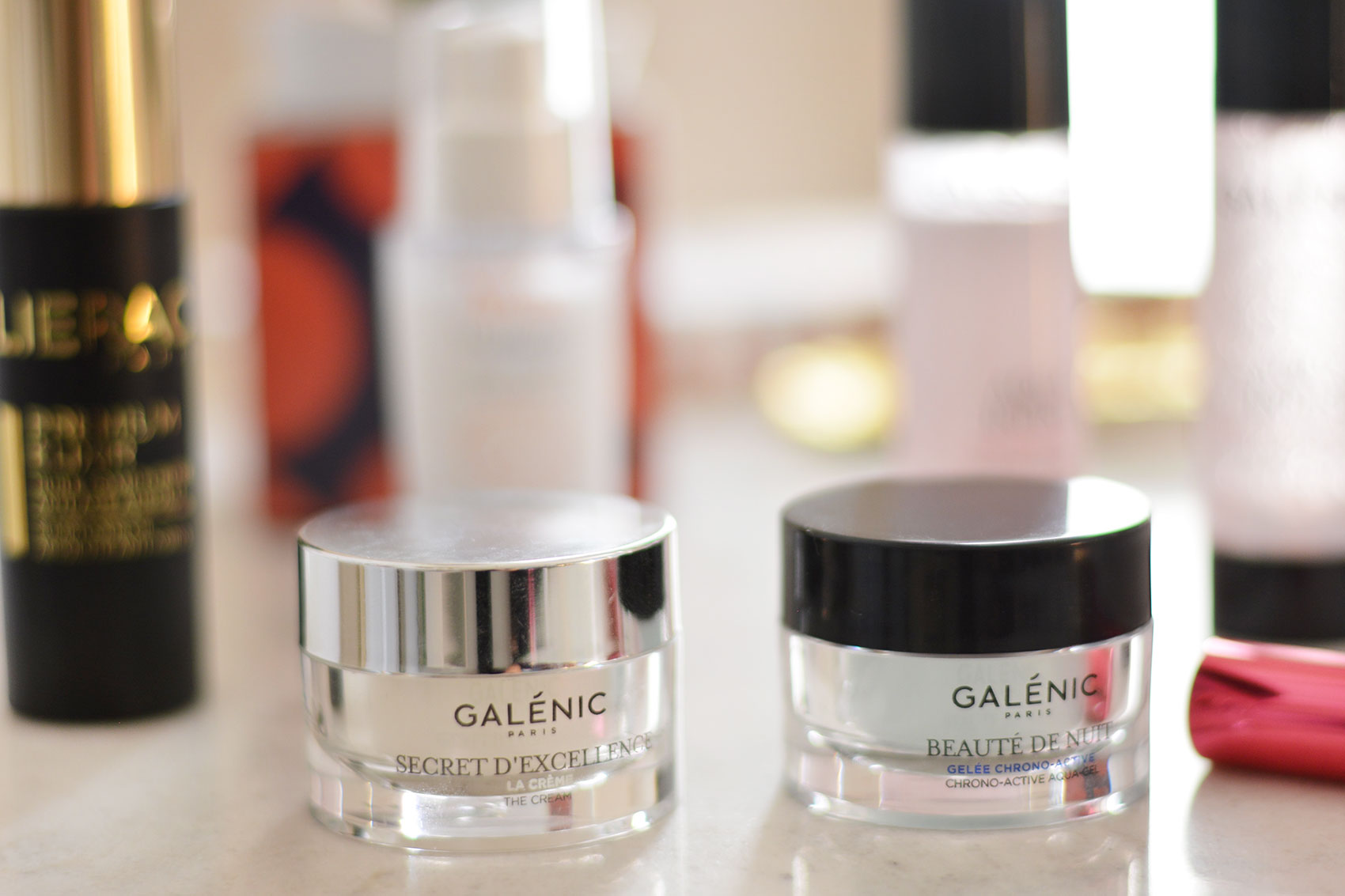 Quelques produits de la gamme Galenic