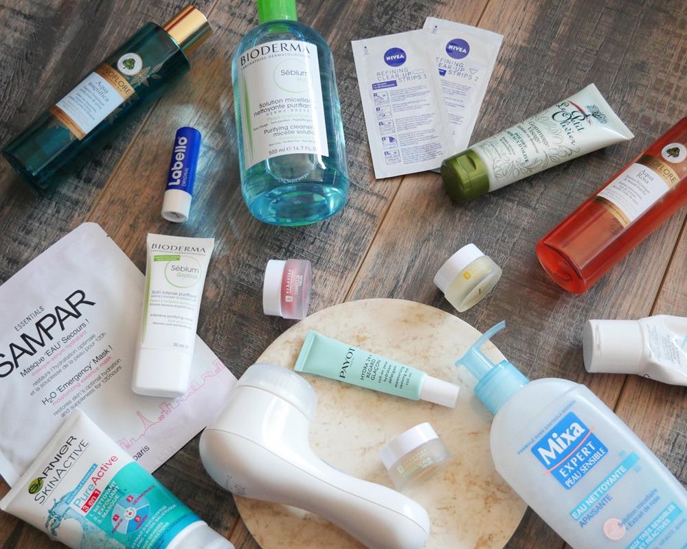 Exemples de produits de soins pour le visage