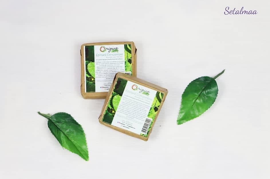 Savon épinard concombre de la marque Origine Terre
