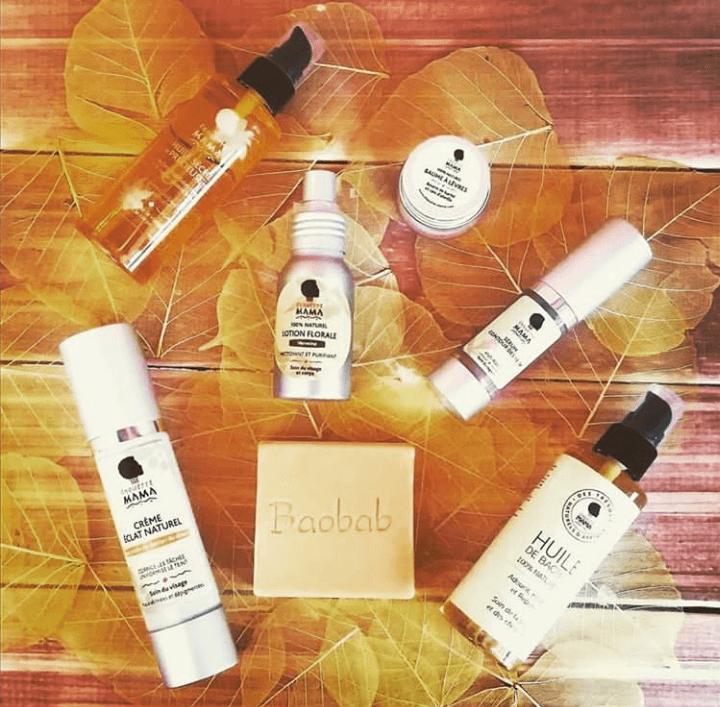 Produits de soins pour le visage et le corps de la marque Chouette mama. Des produits parfumés à base des huiles essentielles.