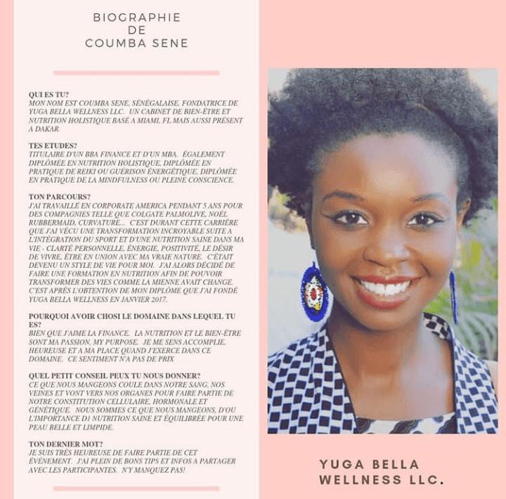 Coumba Sène, CEO de YUGA BELLA WELLNESS- SETALMAA